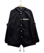 WEIRDO(ウィアード)の古着「ナイロンレインパーカー」 ブラック