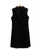 UNTITLED(アンタイトル)の古着「ダブルクロスジレジャケット」|ブラック