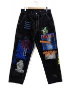 DIESEL(ディーゼル)の古着「グラフィックパッチパンツ」|ブラック