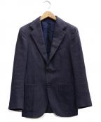 Errico Formicola(エリコフォルミコラ)の古着「ハウンドトゥース柄ウール3Bジャケット」|ネイビー