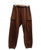 TONE(トーン)の古着「BASIC CARGO SWEAT PANTS」|ブラウン