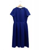 Demi-Luxe BEAMS(デミルクスビームス)の古着「ジャガードフレアワンピース」|ブルー