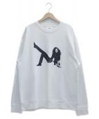 Calvin Klein Jeans(カルバンクラインジーンズ)の古着「Icon Box Print Crewneck Sweats」|ホワイト