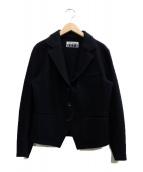 ISSEY MIYAKE FETE(イッセイミヤケ フェット)の古着「変形ウールジャケット」|ブラック