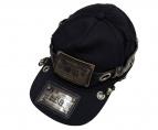 DIESEL(ディーゼル)の古着「REBOOT-BLACK-BIKER-CAP」|ブラック