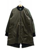 DIESEL(ディーゼル)の古着「ロング丈MA-1ジャケット」|オリーブ