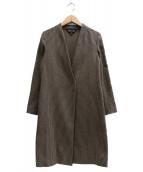 INDIVI(インディヴィ)の古着「ツイディーシャンブレーロングジャケット」|ブラウン