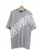 DSQUARED2(ディースクエアード)の古着「ミラーロゴオーバーサイズカットソー」|グレー