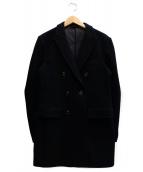 junhashimoto(ジュンハシモト)の古着「ダブルチェスターコート」|ブラック