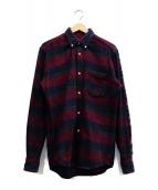 OUR LEGACY(アワーレガシー)の古着「グレンチェックシャツ」|レッド×ネイビー