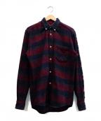 OUR LEGACY(アワーレガシー)の古着「グレンチェックシャツ」 レッド×ネイビー