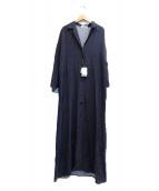 GALLARDA GALANTE(ガリャルダガランテ)の古着「小紋柄シャツワンピース」|ネイビー