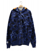 A BATHING APE(アベイシングエイプ)の古着「tiger full zip hoodie」|ネイビー