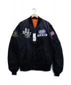 AVIREX(アビレックス)の古着「MA-1ジャケット」|ブラック