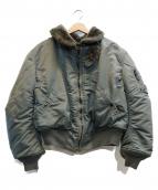 ALPHA(アルファ)の古着「フライトジャケット」|オリーブ
