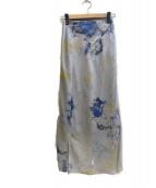 Snidel(スナイデル)の古着「Iラインタイダイスカート」|ブルー