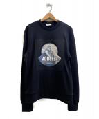 MONCLER(モンクレール)の古着「ロゴスウェット」|ブラック
