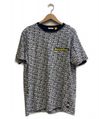 MONCLER(モンクレール)の古着「Tシャツ」|ホワイト×ブラック