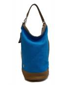 ()の古着「ハンドバッグ」|ブルー×ブラウン
