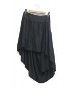 Ys(ワイズ)の古着「フィッシュテールスカート」|ブラック