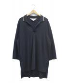 SUNSEA(サンシー)の古着「BIG POLO SHIRT」|ブラック