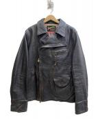 ACANTHUS(アカンサス)の古着「ダブルライダースジャケット」|ブラック