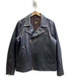 Vin&Age(ヴィン&エイジ)の古着「ダブルライダースジャケット」|ブラック