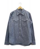 IRON HEART(アイアンハート)の古着「ウエスタンシャツ」|ネイビー
