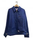 CALEE(キャリー)の古着「ジップジャケット」|ネイビー