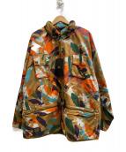 NIGEL CABOURN  × ELEMENT(ナイジェル・ケーボン × エレメント)の古着「ハンティングジャケット」|ブラウン×グリーン