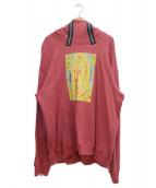 MYNE(マイン)の古着「zip slit hoodie」|レッド