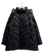 BALMAIN(バルマン)の古着「フォックスファーダウンコート」|ブラック