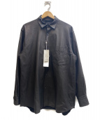 COMOLI(コモリ)の古着「レザーコモリシャツ」|ブラック