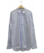 COMME des GARCONS HOMME DEUX(コムデギャルソン オム ドゥ)の古着「ストライプシャツ」|ブルー×ホワイト
