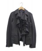 COMME des GARCONS(コムデギャルソン)の古着「デザインジャケット」|ブラック