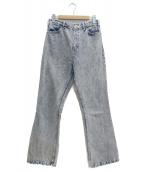 TOGA PULLA(トーガプルラ)の古着「ブリーチ加工デニムパンツ」|インディゴ