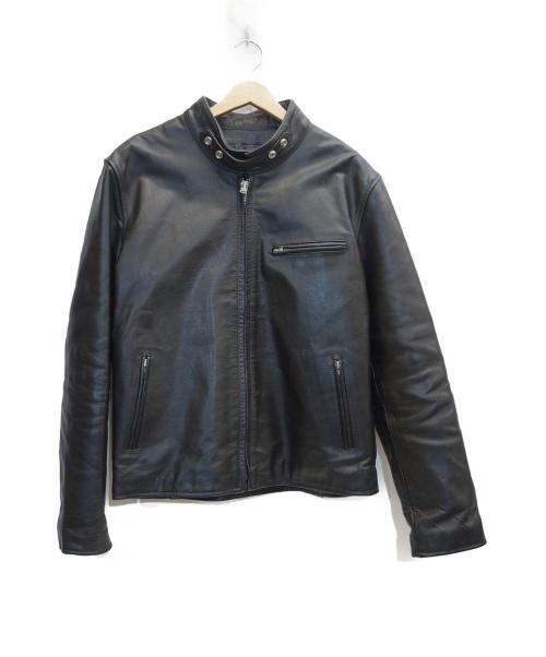 HORN WORKS(ホーンワークス)HORN WORKS (ホーンワークス) シングルライダースジャケット ブラック サイズ:表記サイズ:3Lの古着・服飾アイテム