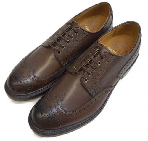 SHETLAND FOX(シェットランドフォックス)SHETLAND FOX (シェットランドフォックス) ウィングチップシューズ ブラウン サイズ:表記サイズ:7の古着・服飾アイテム