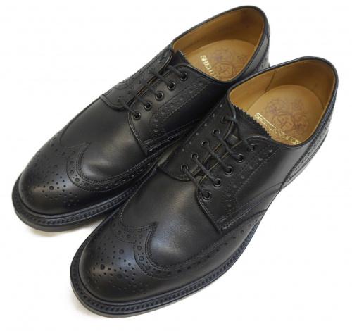SHETLAND FOX(シェットランドフォックス)SHETLAND FOX (シェットランドフォックス) ウィングチップシューズ ブラック サイズ:表記サイズ:7の古着・服飾アイテム