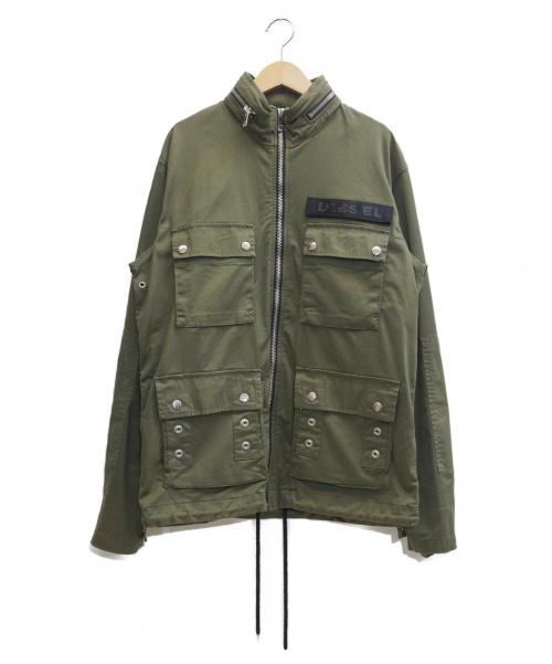 DIESEL(ディーゼル)DIESEL (ディーゼル) ミリタリージャケット オリーブ サイズ:表記サイズ:Sの古着・服飾アイテム