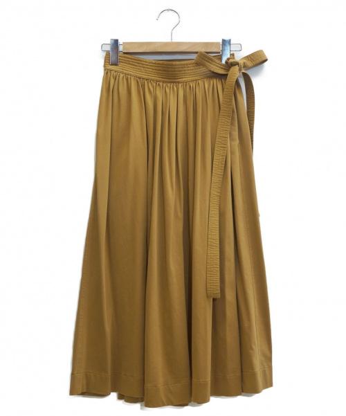 LEMAIRE(ルメール)LEMAIRE (ルメール) ミディスカート ブラウン サイズ:表記サイズ:Sの古着・服飾アイテム