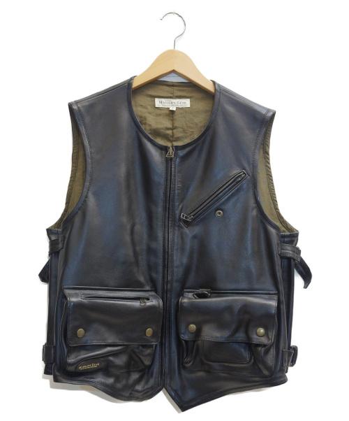 HARLORDS GEAR(ハロルズギア)HARLORDS GEAR (ハロルズギア) レザーベスト ブラック サイズ:表記サイズ:Fの古着・服飾アイテム
