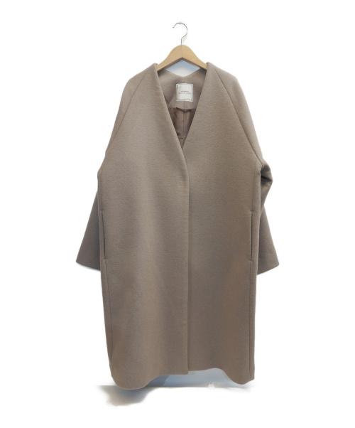 JEANASIS(ジーナシス)JEANASIS (ジーナシス) ノーカラーコート ベージュ サイズ:表記サイズ:Fの古着・服飾アイテム