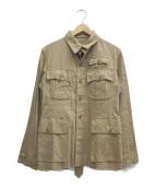 NIGEL CABOURN(ナイジェルケーボン)の古着「リネン混ジャケット」 ベージュ
