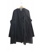 YohjiYamamoto pour homme(ヨウジヤマモトプールオム)の古着「Left Front Double Layer Shirt」|ブラック