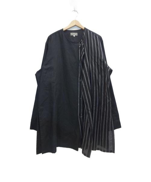 YohjiYamamoto pour homme(ヨウジヤマモトプールオム)YohjiYamamoto pour homme (ヨウジヤマモトプールオム) Left Front Double Layer Shirt ブラック サイズ:表記サイズ:4の古着・服飾アイテム