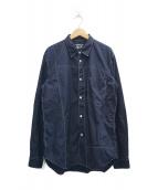 ()の古着「ステッチシャツ」|ネイビー
