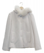 LAISSE PASSE(レッセパッセ)の古着「フードショートジャケット」|ピンク
