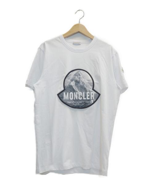 MONCLER(モンクレール)MONCLER (モンクレール) ロゴTシャツ ホワイト サイズ:表記サイズ:Mの古着・服飾アイテム