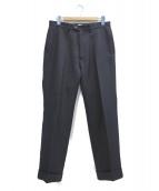 KAIKO(カイコ)の古着「ポリエステルトラウザーパンツ」|ブラック